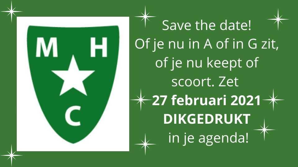 Save the date 27 februari